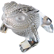 Lalique Paris France Fine Crystal Frog Gregoire Paperweight Figurine