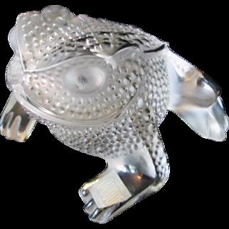 Lalique Paris France Fine Crystal Frog Gregoire Paperweight Figurine