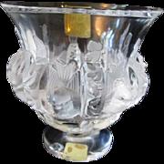 Lalique Dampierre Fine Crystal Bird Vase