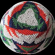 Paiute Native American Beaded Basket Vintage 1930s Geometric Mint Condition