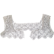 Antique Edwardian Crocheted Lace Yoke With Shoulder Straps