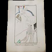 Art Deco Flapper Gloves Fashion Plate Vintage 1920s Art Deco Le Gout Du Jour