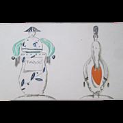 French Art Deco Perfume Bottle Book Plate Vintage 1920s Le Gout Du Jour