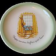 Happy Memories Holly Hobbie Plate Vintage 1970s Porcelain Motto
