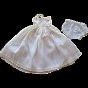 Vintage Cotton Doll Undergarments Panties Full Slip Petticoat Lace Trimmed Cotton