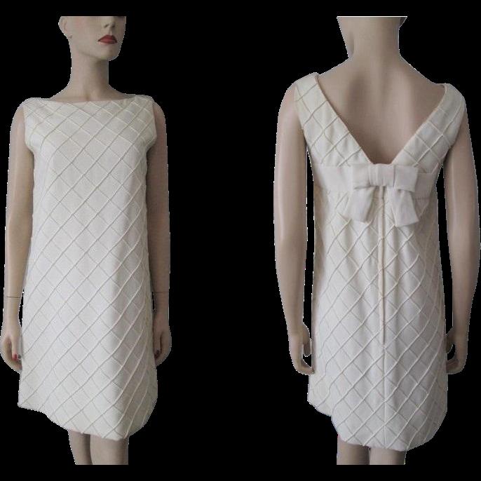 Vintage Wedding Dresses Omaha Ne: Hold For Loreen: Mod Ivory Cocktail Dress Vintage 1960s
