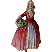 Royal Doulton Figurine Janet Bone China Retired Woman Flower Basket HN1537