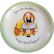 Vintage 1970s Holly Hobbie Happiness Plate