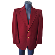 Mens Woolf Brothers Sport Coat Jacket Blazer Vintage 1960s Crimson Red