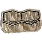 Art Deco Beaded Clutch Purse Vintage 1940s Simulated Pearl Tube Beads