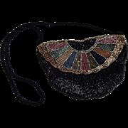Magid Hand Beaded Evening Purse Vintage 1980s Special Occasion Handbag