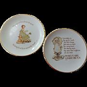 Lot 2 Vintage 1970s Holly Hobbie Friendship Plates