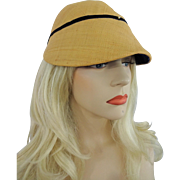 Vintage 1940s Straw Hat Cap Womens Stylish Accessory
