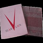 Dark Java Nylon Hosiery Stockings Vintage 1950s Seamless Mar V Lus New In Box 10.5