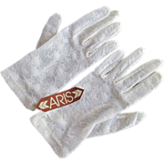 Deadstock Aris Gloves White Lace Vintage 1960s Wristlet Stretch Wedding Bridal Prom