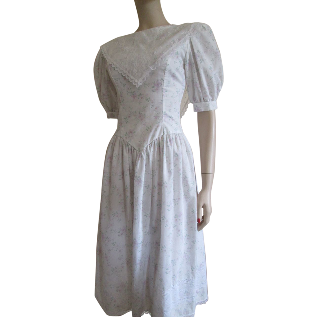 Gunne Sax Dress Vintage 1980s Jessica McClintock Cotton Lace SOLD ...