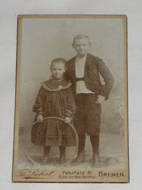 Antique Victorian Small Cabinet Card-Young Man  Young -1093