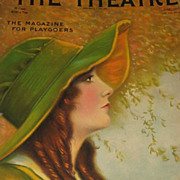 1915 The Theatre Magazine with Gorgeous Cover & Omar Turkish Cigarettes & The White Motor Car on Back