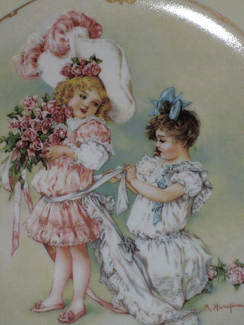 "Maud Humphrey ""Playing Bridesmaid"" Porcelain Collector Plate-1989-The Hamilton Collection"