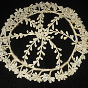 Vintage Round Wax Wedding Tiara Crown/Cap