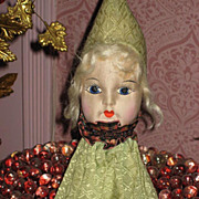 Deco Cloth Doll Face Pajama or Lingerie Holder-Never Used
