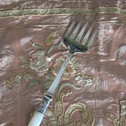 Vintage Mother of Pearl Serving Fork Marked EPNS Abbey