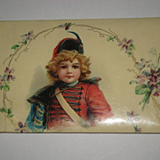 Antique 1904 Brundage Girl Celluloid Autograph Album/Book-Large Size