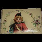 Antique 1904 Brundage Girl Celluloid Autograph Album/Book-Large Size