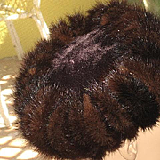1940's Brown Mink Pill Box Hat