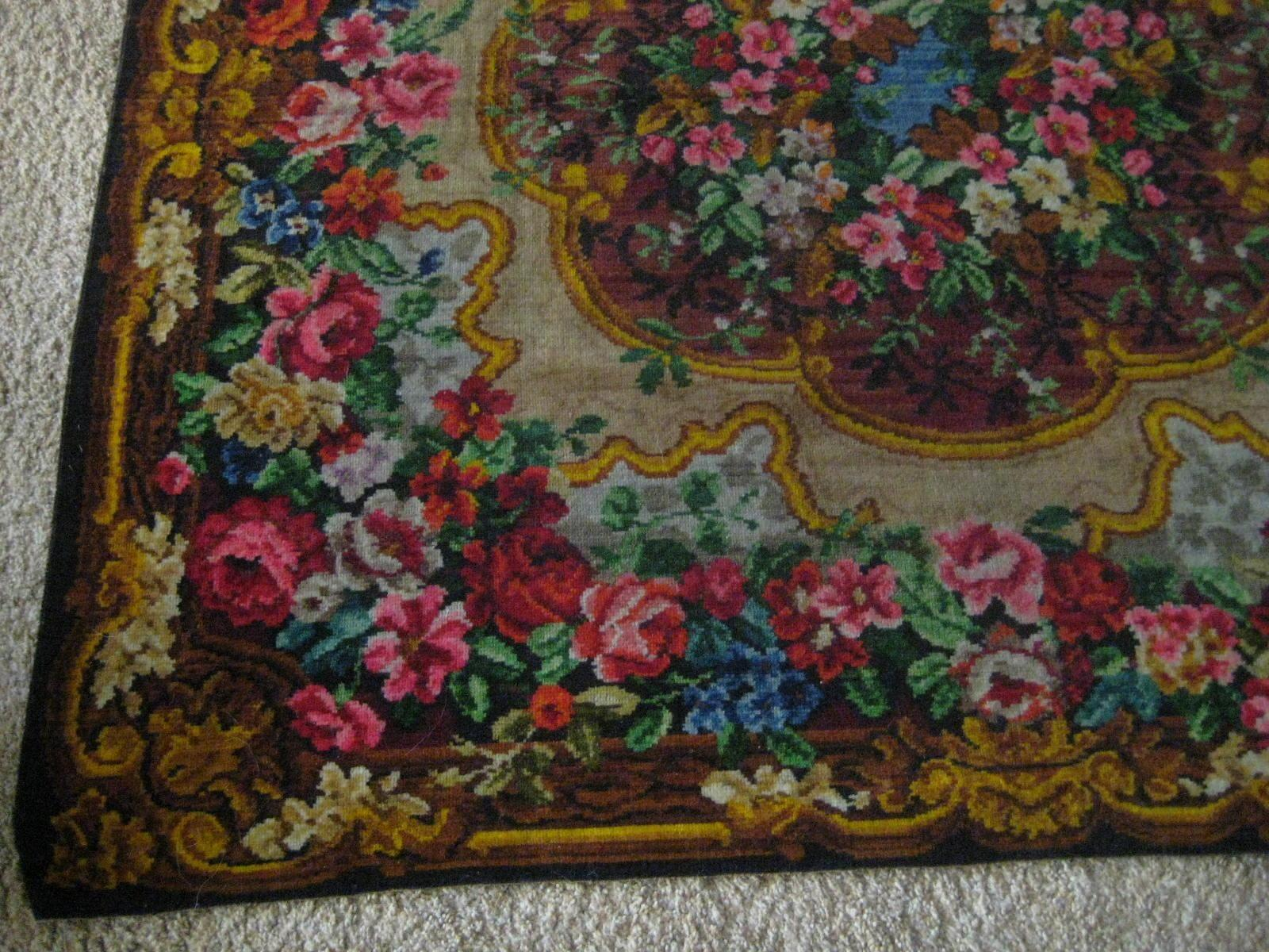 Victorian Mohair Table Cover Or Rug With Tons Of Roses