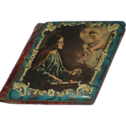 1905 Celluloid Autograph Book Album w/2 Cherubs, Flowers & Religious Figure with Halo