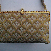 Vintage French Steel Beaded Purse-Near Mint -Made in France for Lord & Taylor