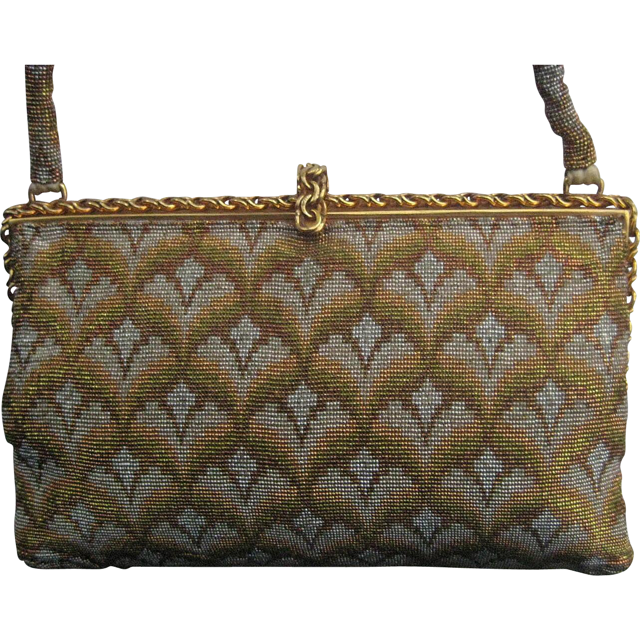 French beaded vintage purse