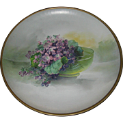 Antique Lilacs Malt Rainier Malt Tonic Tin Litho Advertising Plaque for the Seattle Brewing & Malting Co