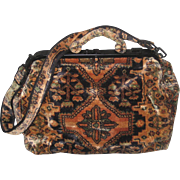 Vintage J. Peterman XL Persian Carpet Design Carpet Bag Tote w/Shoulder Strap-Never Used