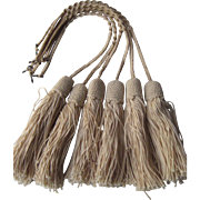 Seven 1900's French Crochet Tassels