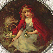 Antique Little Red Riding Hood & The Big Bad Wolf Flue Cover