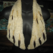 Antique Ermine Fur Collar Worn Two Ways