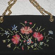 Vintage Tambour Embroidered Koret Purse-Never Used