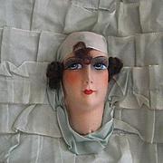 C. 20's French Boudoir Doll Face Ribbon Pillow