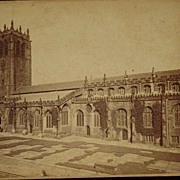 Antique Cabinet Card of Halifax Parish Church-Canada