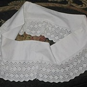 Vintage White Hand Crochet Pillowcase Trim/Edging-Pair