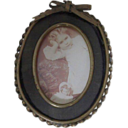 Darling Small Framed Photo of Girl with Doll