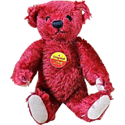 "Sweet 6"" Red Steiff Teddy Bear - Red Tag Sale Item"