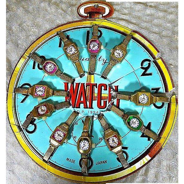 All Original Vintage Store Display of Children's Watches