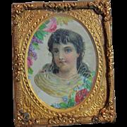 Elegant Antique Framed Miniature Picture