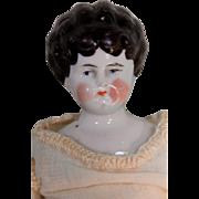 "Sweet 10 1/2"" Antique China Head Lady"