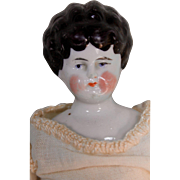 "Sweet 10 1/2"" Antique China Head Lady"