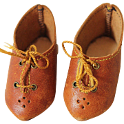 Lovely Antique Leather Doll Shoes