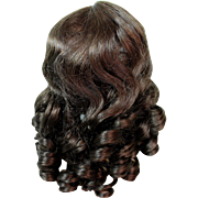 Vintage French Human Hair Doll Wig